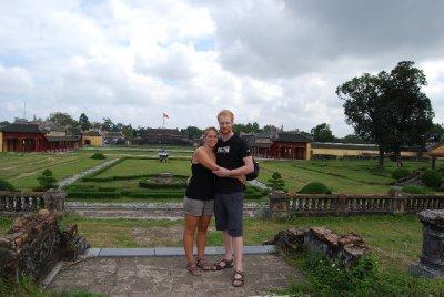 På besøk i det kongelige citadell i Hue :-)