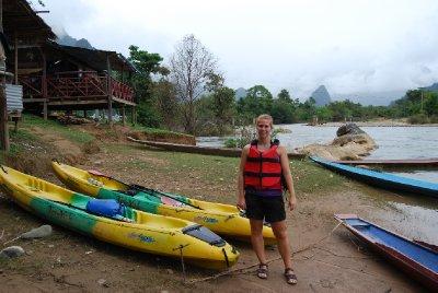 Klar for eventyr på Mekong elva :-)