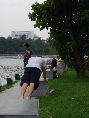 Trening i parken - hehe!
