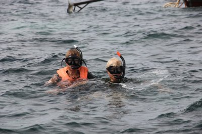 jane and I snorkelling