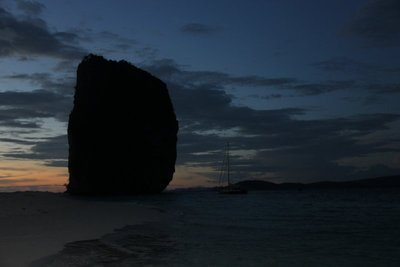 sunset at railay beach