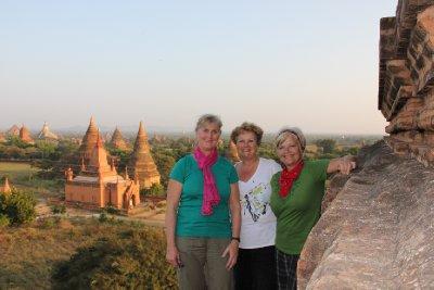 us at temple in bagan