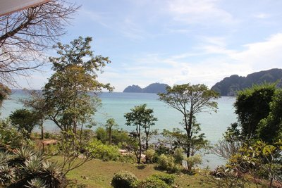 view from our balcony in phi phi