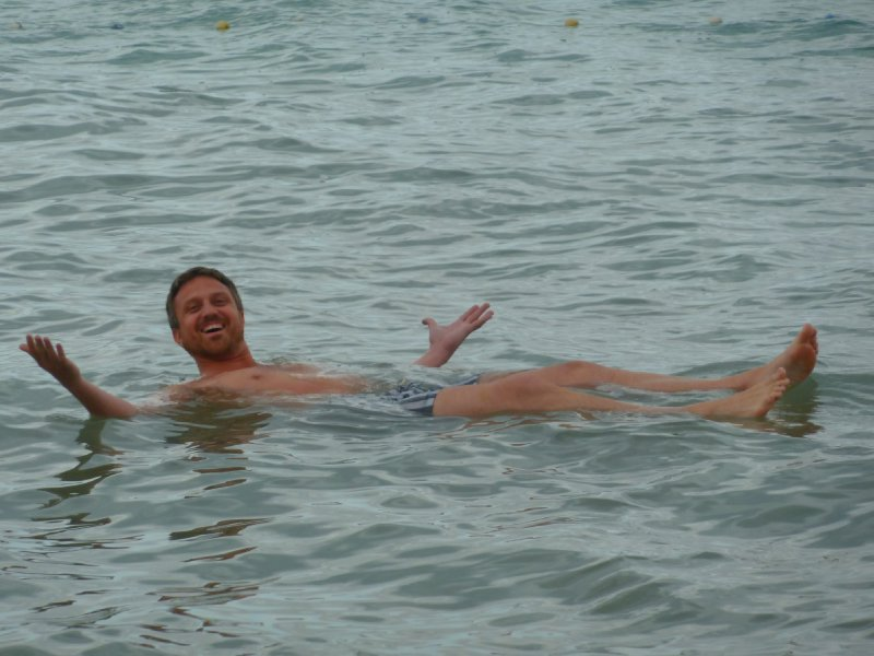 Floating the super-salty dead sea
