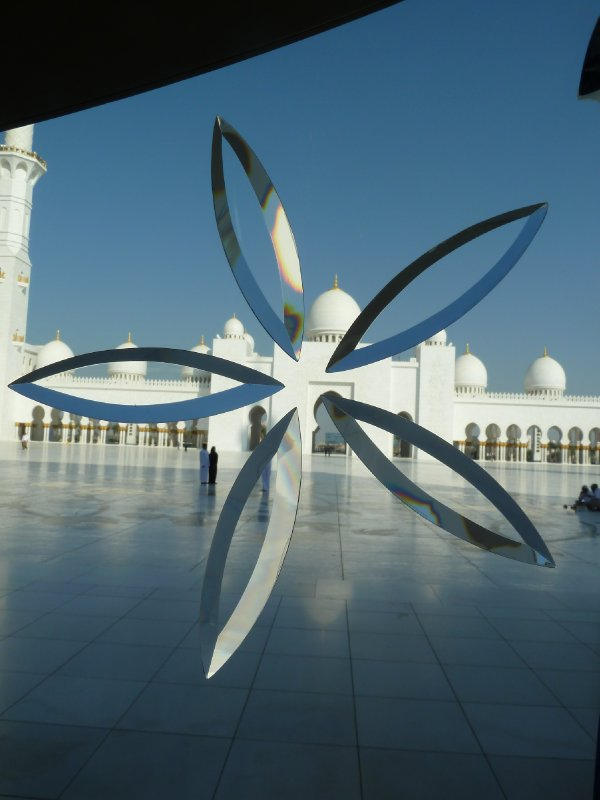 Hand Crafted Morano Glass from Italy is just one of the beautiful features of the Sheikh Zayed Grand Mosque