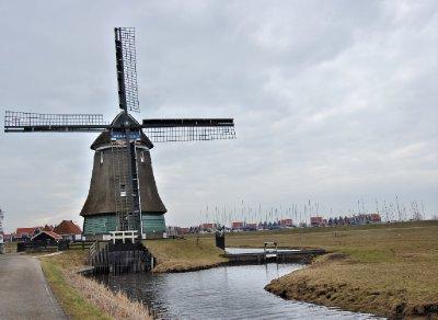 windmill at edam