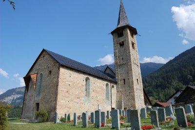 st. martin church, zillis