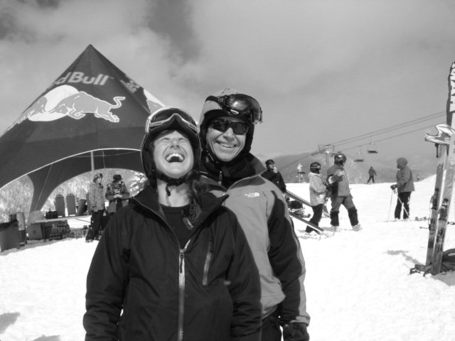 Red Bull makes a Gal Giddy at the Extreme Ski Comp