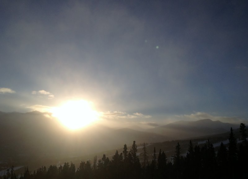 Watching the Sun Rise on a Ski Tour
