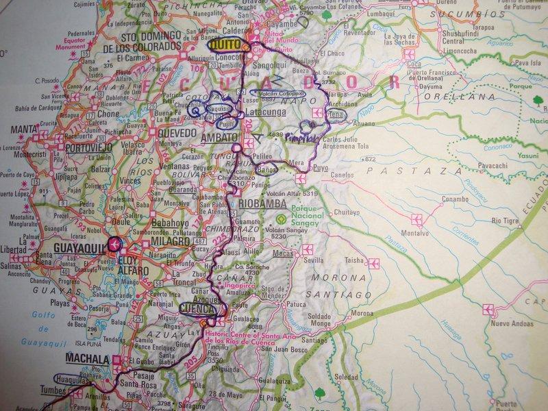 (my route through Ecuador)