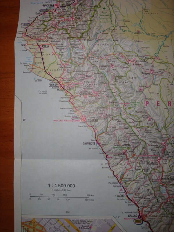 (my route through northern Peru)
