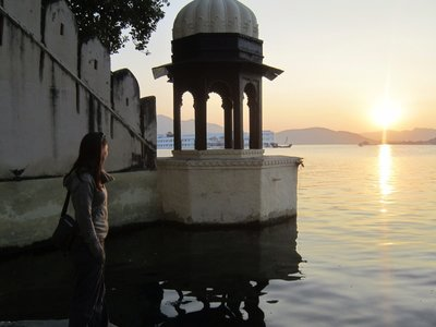 Our First view of Pichola Lake in Udaipur
