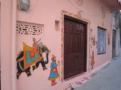 Door art - around many doors on Udaipur