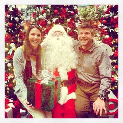 Santa at Vancouver airport