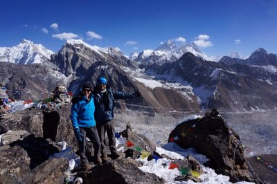 View from the summit of Gokyo Ri