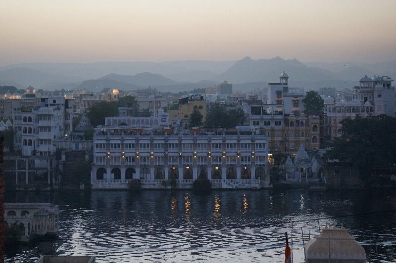 View from our hotel room in Udaipur