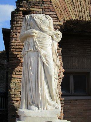 Roman bricks at Palentine Hill