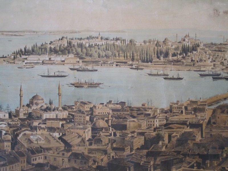 19th century drawing of Istanbul
