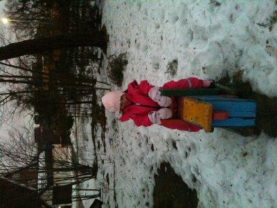 Isabella in Lidingo playground