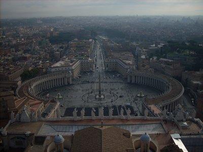 Piazza San Pietro dalla cupola