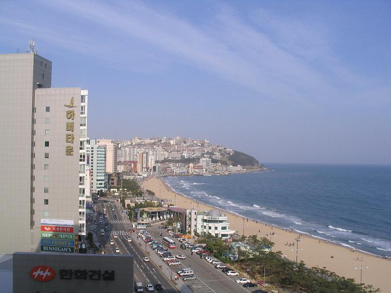 .. view of Haeundae beach at noon