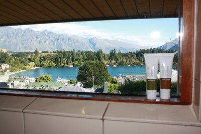 Queenstown Mountains & Lake Wakatipu from Shower