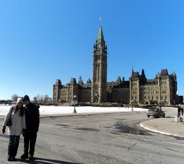 Kristyna and Me in front of Parliament Building
