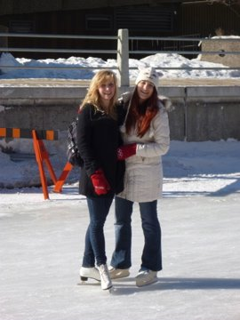 Yoselien and Kristyna on the Rideau Canal