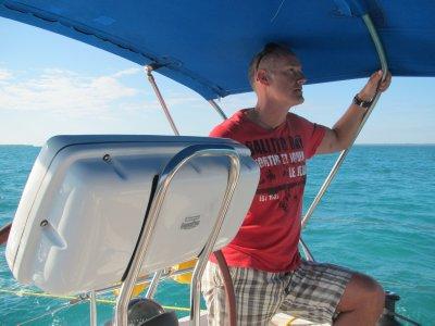 Sailing the Sea of Abaco.  Bahamas