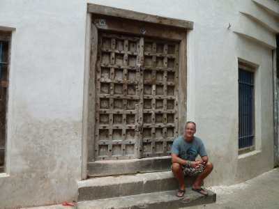 One of Stone Town's famous doors, traditionally the first part of a building to be erected.
