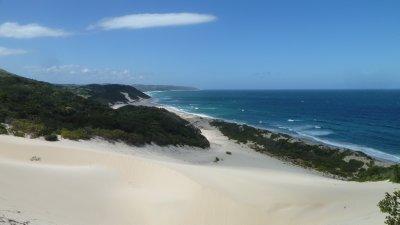 Down the dunes.  Cinsta