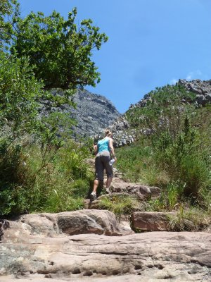 This way up!  Table Mountain, Cape Town