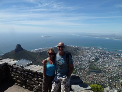 Looking down on the Mother City from Table Mountain.  Cape Town
