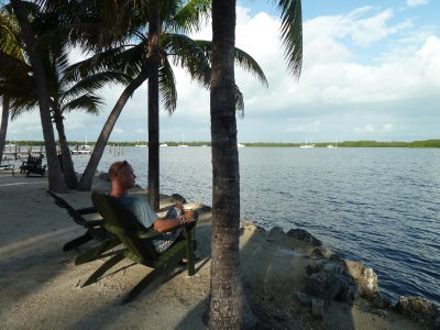 Watching the tide.  Key Largo, Florida