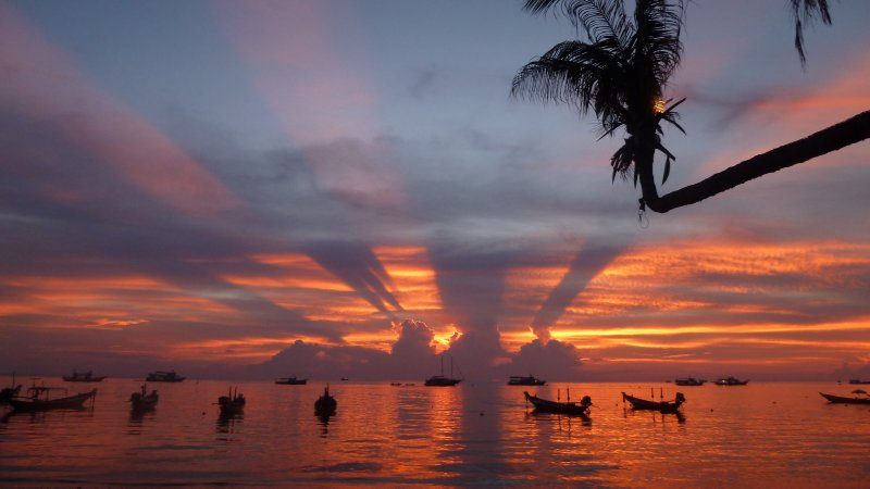 Evening light show.  Koh Tao