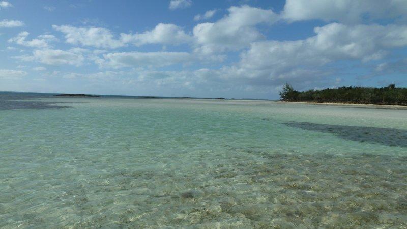 Shallows everwhere.  Watch your depth!  Man-O-War Cay, Bahamas