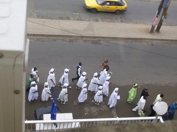 Easter parade in the streets of Douala