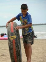 A Kid on Cha-am Beach