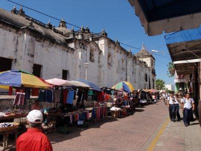 market around church