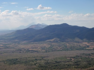 view from cerro negro volcano