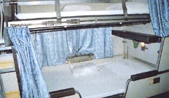 Thailand 2nd class train berths