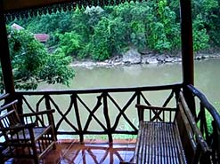 View from bungalow porch Thailand