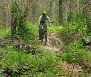 Mountain biking near Chiang Mai Thailand