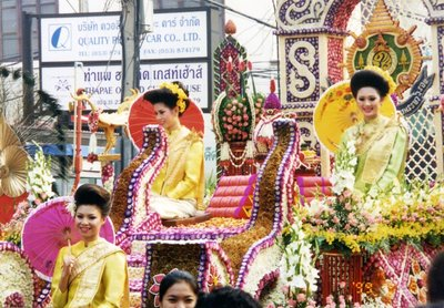 Chiang Mai Thailand flower festival float