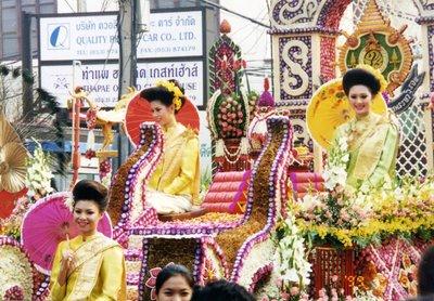 Chiang Mai Thailand flower festival float