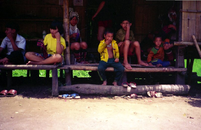 Akha hill tribe children in north Thailand near Chiang Mai