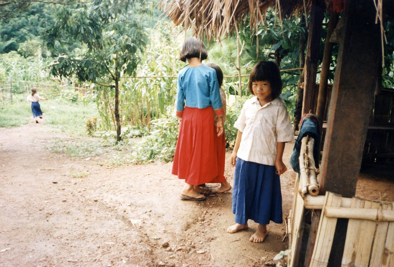 Lahu hill tribe children with their new clothes
