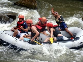 White water rafting near Chiang Mai Thailand