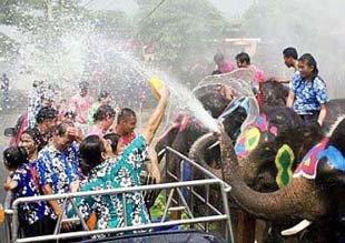 Songkran festival Chiang Mai Thailand