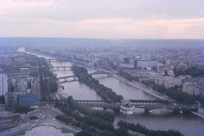 The River Seine, from the second level of the Eiffel Tower